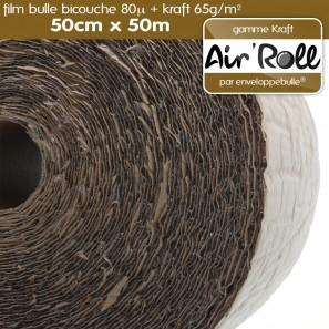 rouleau de film bulle d 39 air kraft 50cm x 50m. Black Bedroom Furniture Sets. Home Design Ideas