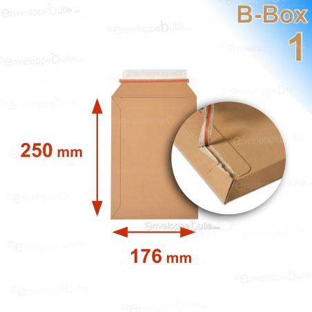 Enveloppe carton B-Box 1 MARRON format 176x250 mm