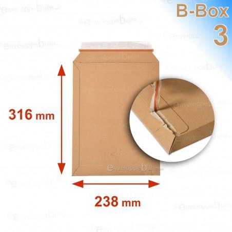 Enveloppe carton B-Box 3 MARRON format 238x316 mm