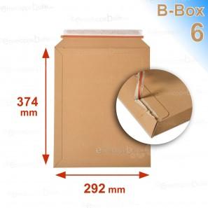 Enveloppe carton B-Box 6 MARRON format 292x374 mm