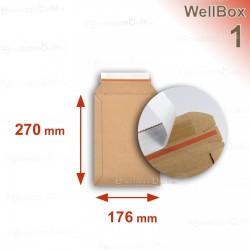 Enveloppe carton WellBox 1 format 176x270 mm