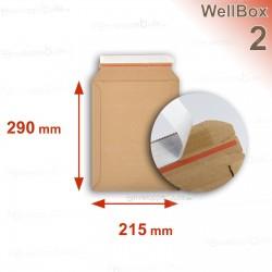 Enveloppe carton WellBox 2 format 215x290 mm