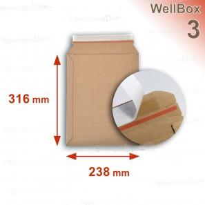 Enveloppe carton WellBox 3 format 238x316 mm