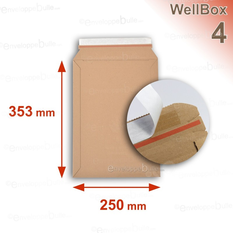 Enveloppe carton WellBox 4 format 250x353 mm