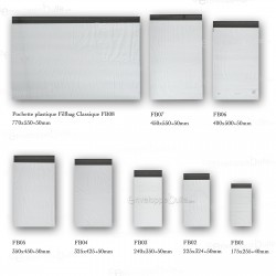 Enveloppes plastiques blanches opaques 225x325 mm