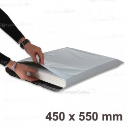 Enveloppes plastiques blanches opaques 450x550 mm