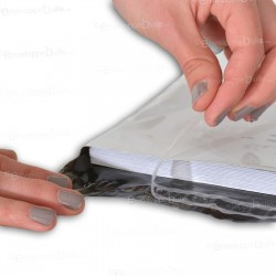 Enveloppes plastiques blanches opaques 240x350 mm
