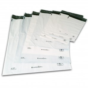 Enveloppes plastiques blanches opaques 175x255 mm