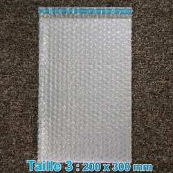 Sachets bulles d'air 200x300 mm avec rabat  adhésif