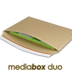 Enveloppe carton MEDIA-BOX DUO pour 2 DVD / BLURAY