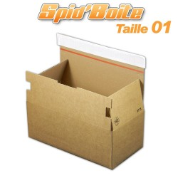 Boîte postale autocollante SPID'BOITE 01 format 268x135x100 mm