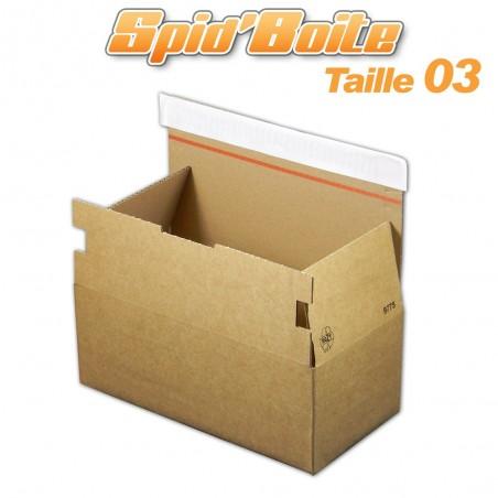 Boîte postale autocollante SPID'BOITE 03 format 275x180x135 mm