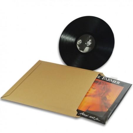 Enveloppe carton vinyle 33 tours format 350x350 mm