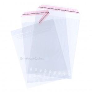 Sachets plastiques AUTOCOLLANTS 250x360mm standard 50µ
