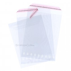 Sachets plastiques AUTOCOLLANTS 300x400mm standard 50µ