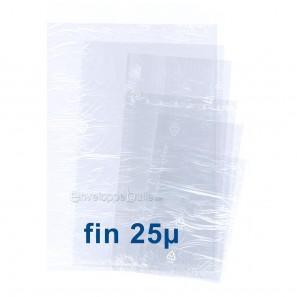 Sachets plastiques SANS fermeture 280x400mm épaisseur fine 25µ