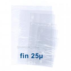 Sachets plastiques SANS fermeture 350x450mm épaisseur fine 25µ