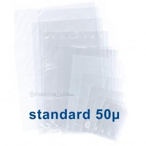 Sachets plastiques SANS fermeture 80x120mm épaisseur standard 50µ