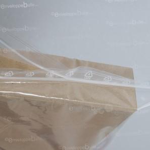 Sachets plastiques à fermeture ZIP 180x250mm standard 50µ