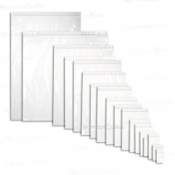 Sachets plastiques à fermeture ZIP 280x400mm standard 50µ