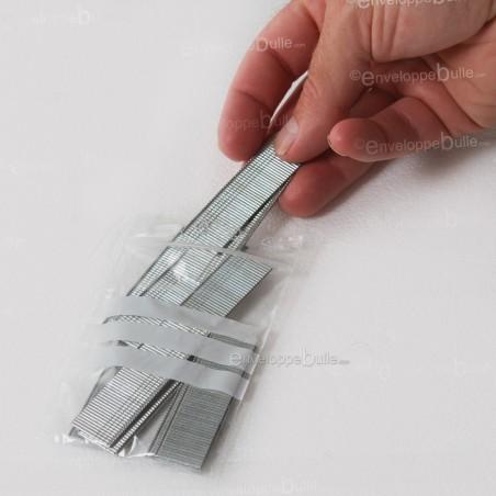 Sachets plastiques à fermeture ZIP 70x100mm  + 3 bandes blanches