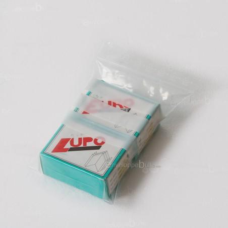 Sachets plastiques à fermeture ZIP 120x170mm  + 3 bandes blanches