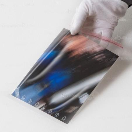 Sachets plastiques AUTOCOLLANTS 165x220mm standard 50µ
