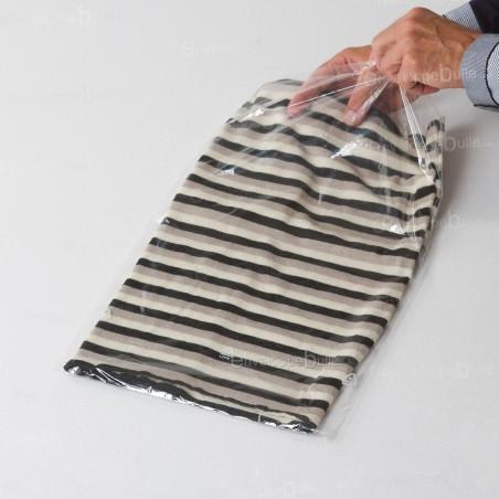 Sachets plastiques SANS fermeture 300x500mm épaisseur fine 25µ