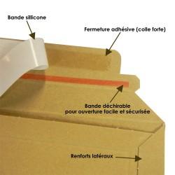 Enveloppe carton MEDIA-BOX pour 1 DVD / BLURAY