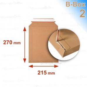 Enveloppe carton B-Box 2 MARRON format 215x270 mm