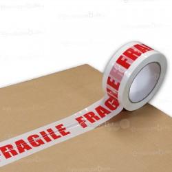 """Rouleau de ruban adhésif imprimé """"FRAGILE"""""""