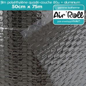 Rouleau de film bulle d'air ISOTHERME 50cm x 75m