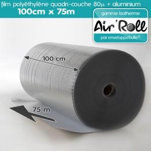 Rouleau de film bulle d'air ISOTHERME 100cm x 75m