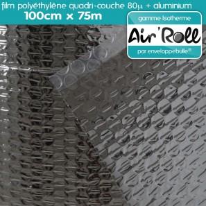 rouleau de film bulle d 39 air isotherme 100cm x 75m. Black Bedroom Furniture Sets. Home Design Ideas
