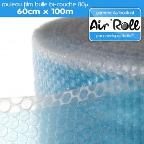 rouleau de film bulle d 39 air autocollant 60cm x 100m. Black Bedroom Furniture Sets. Home Design Ideas