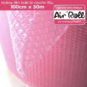 Rouleau de film bulle d'air ANTISTATIQUE 100cm x 50m