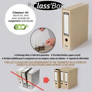 Classeur A4 avec boîte Class'Box ECO 100% recyclé