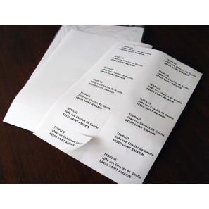 Planches A4 de 14 étiquettes autocollantes 10,5 x 4,25 cm