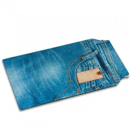 Enveloppe carton B-Box 4 imprimée JEANS format 250x353 mm