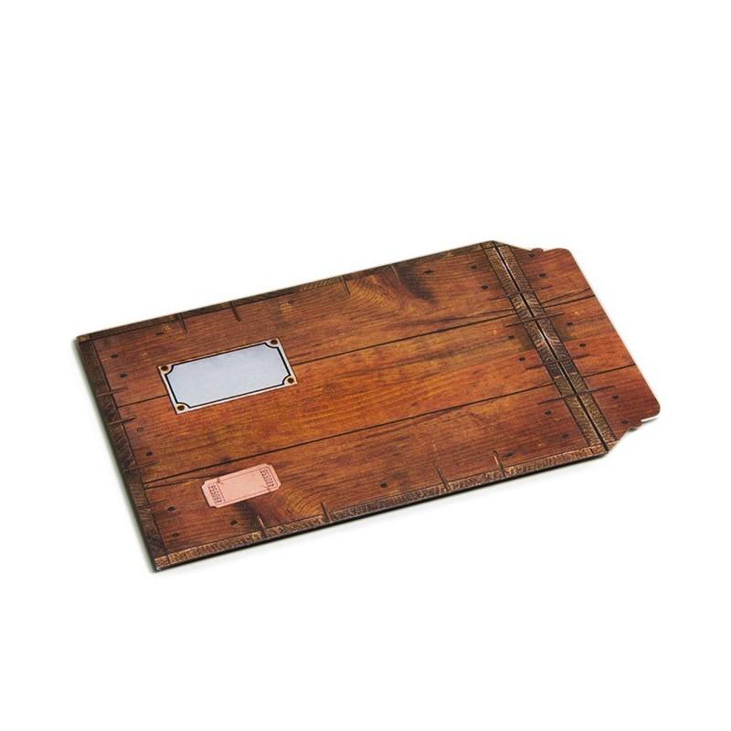 Enveloppe carton B-Box 4 imprimée BOIS format 250x353 mm