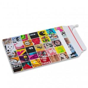 Enveloppe carton B-Box 4 imprimée GRAFFITI format 250x353 mm