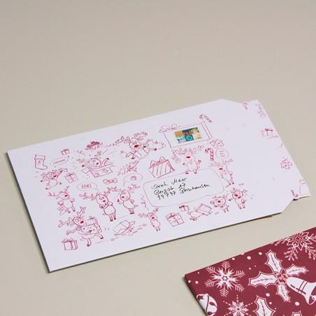 Enveloppe carton B-Box 4 imprimée NOËL format 250x353 mm