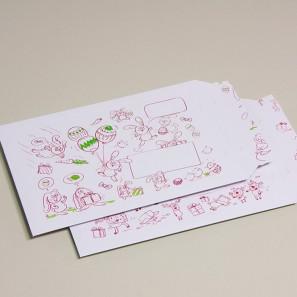 Enveloppe carton B-Box 4 imprimée PÂQUES format 250x353 mm