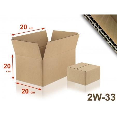 Carton double cannelure 2W-33 format 200 x 200 x 200 mm
