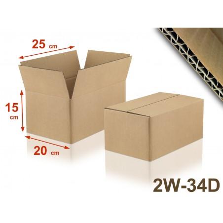 Carton double cannelure 2W-34D format 250 x 200 x 150 mm