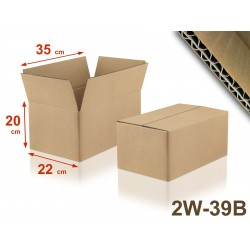 Carton double cannelure 2W-39B format 350 x 220 x 200 mm