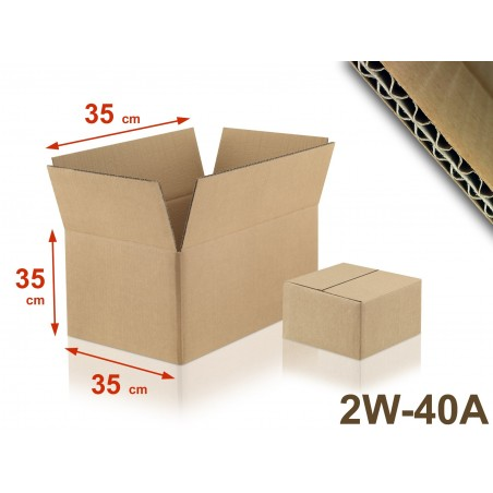 Carton double cannelure 2W-40A format 350 x 350 x 350 mm