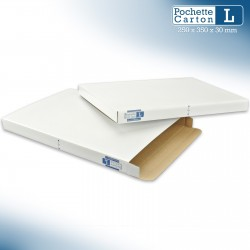 Boîte Pochette Carton L - hauteur 3cm - format 254x356 mm
