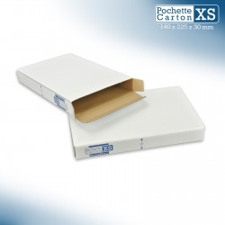 Boîte Pochette Carton XS - hauteur 3cm - format 140x225 mm