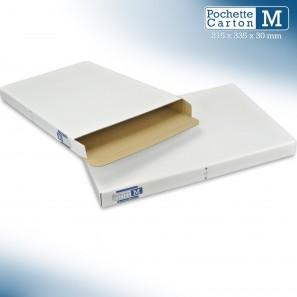 Boîte Pochette Carton M - hauteur 3cm - format 215x335 mm